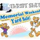 Memorial Day Weekend Yard Sale!!